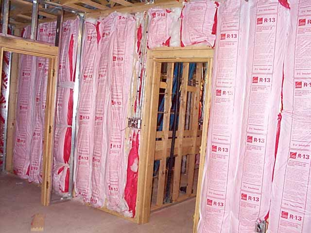 Insulation Placed In Walls